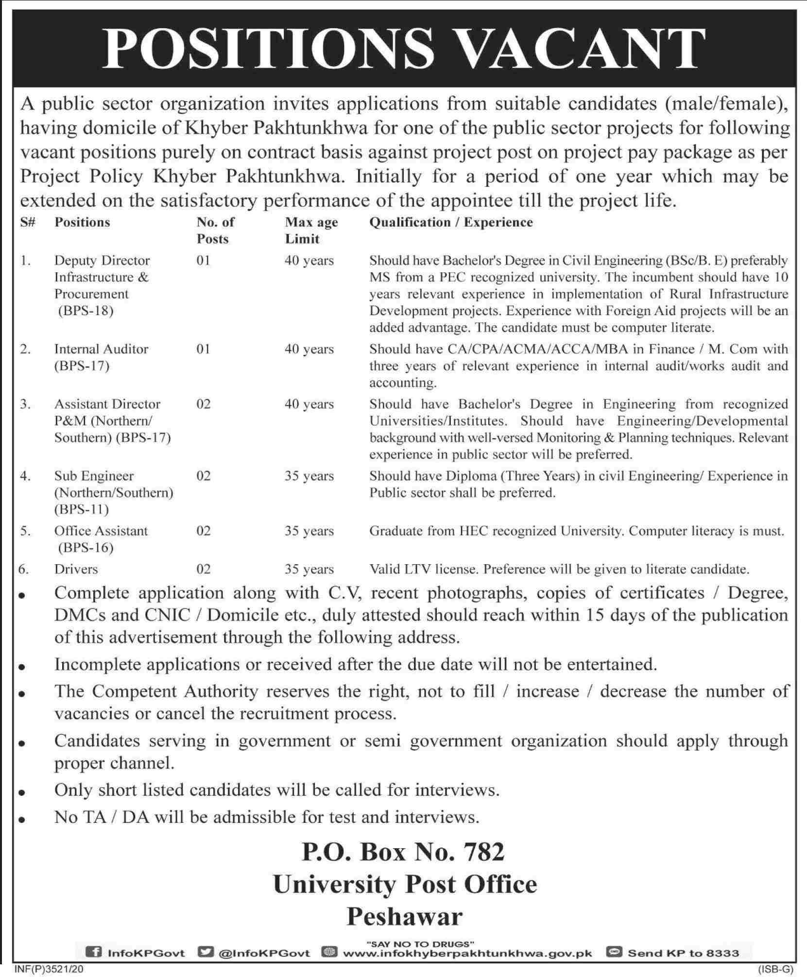 P O Box No 782 Jobs September 2020