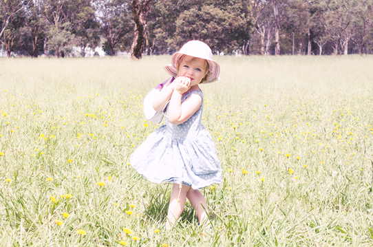 Daughter wearing vintage inspired little girls style | Lavender & Twill