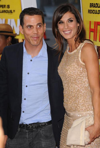 George Clooney's ex Elisabetta Canalis took Steve-O to the 'Hit & Run' movie premiere.