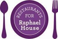 Restaurants for Raphael House dine out fundraiser on Wednesday, May 20th