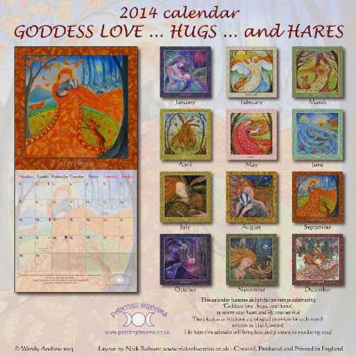 Shop Goddess Loves Hugs And Hares Calendar 2014