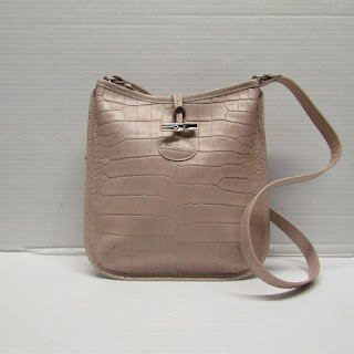 Longchamp Embossed Leather Crossbody Bag