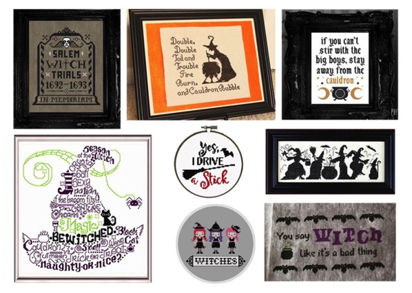 15 witchy cross stitch