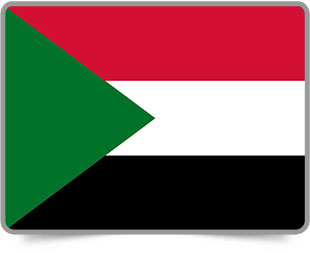 Sudanese framed flag icons with box shadow