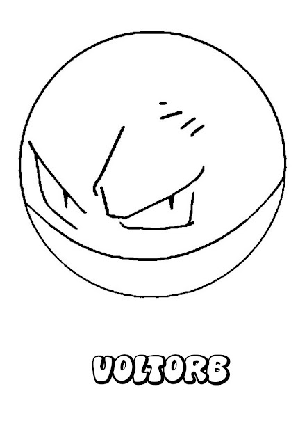 Electric Pokemon Coloring Pages Voltorb Throughout Electrode Pokemon  Coloring Pages