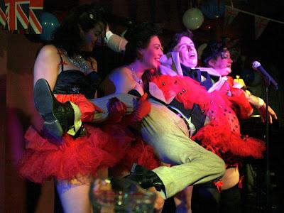Dancers at Volupte cabaret show in London