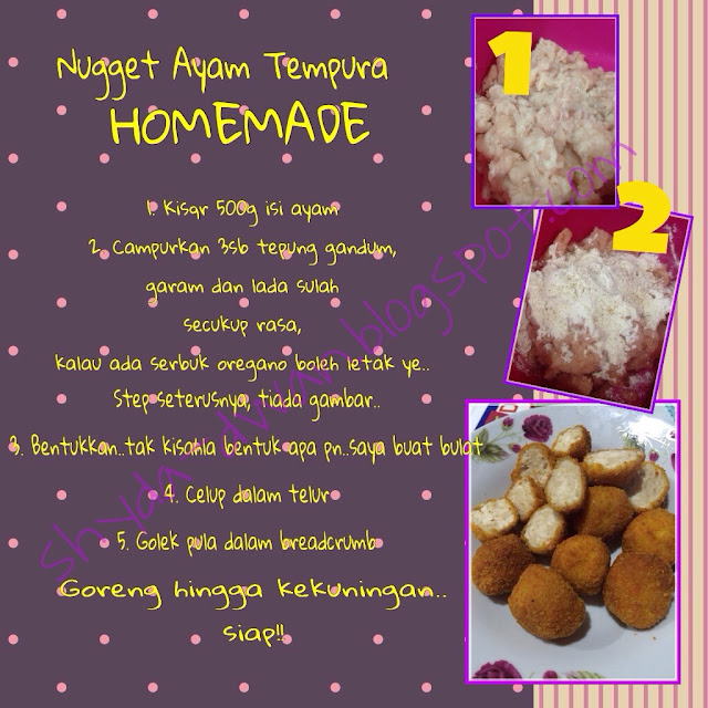 resepi nugget ayam homemade resepi bergambar Resepi Maggi Goreng Sihat Enak dan Mudah
