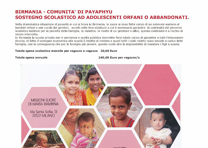 progetto birmania