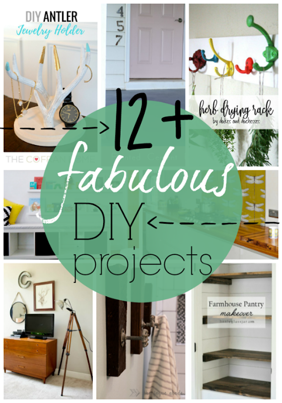 Over 12 Fabulous DIY Projects at GingerSnapCrafts.com #DIY #forthehome