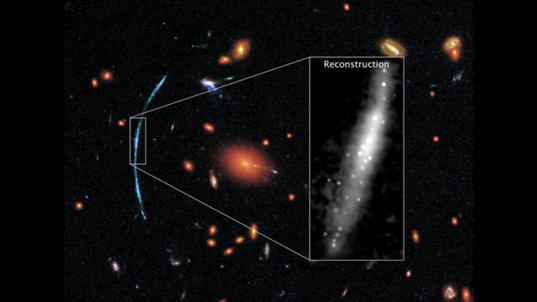 aglomerados de estrelas detectados em galáxia longínqua