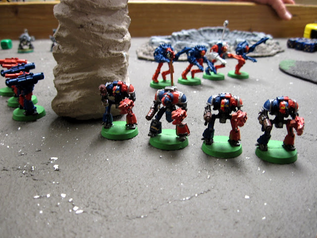 Tim's Knights ready to do battle.