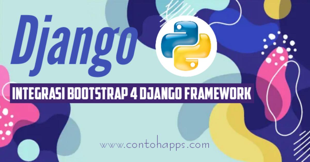 Integrasi Bootstrap Django