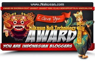 Nakusan Bali Technology Award