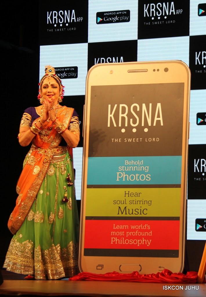 Hema Malini unveils Krsna App