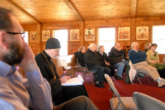 Faithful participating in the retreat.