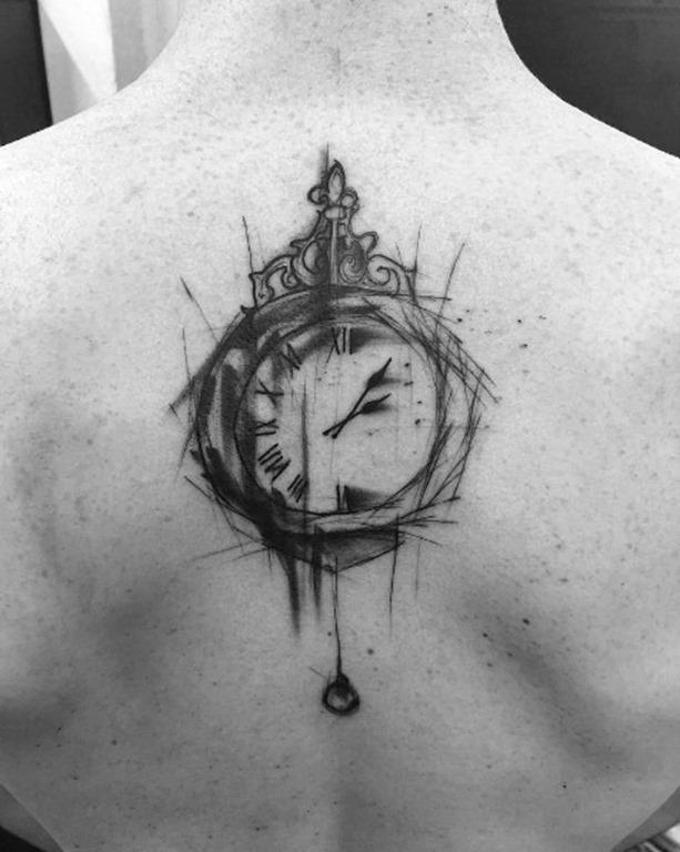 Este esboço estilo do relógio