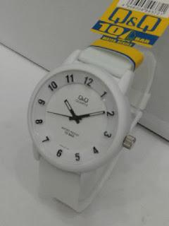 Jual jam tangan Q&Q ruber original warna putih
