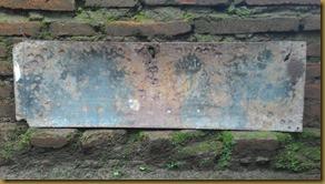 Old enamel sign Ijs Fabrieken Depot Es Petodjo