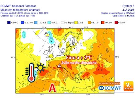 ECMWF: Επιμένουν τα δεδομένα για ένα πολύ θερμό καλοκαίρι στην Ευρώπη αλλά και με βίαιες καταιγίδες