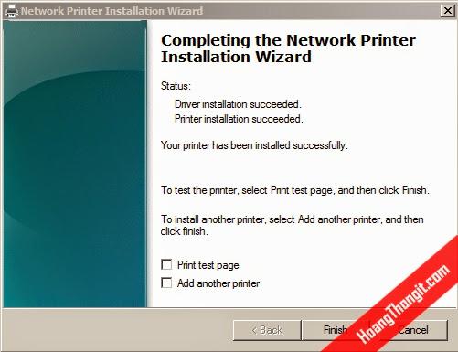 Tạo Printer