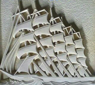 Relief kapal pinishi ukir batu alam paras jogja