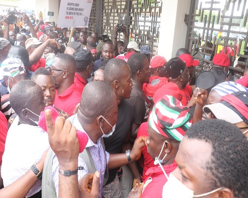 March for Justice: Confusion as NDC demonstrators enter Parliament House