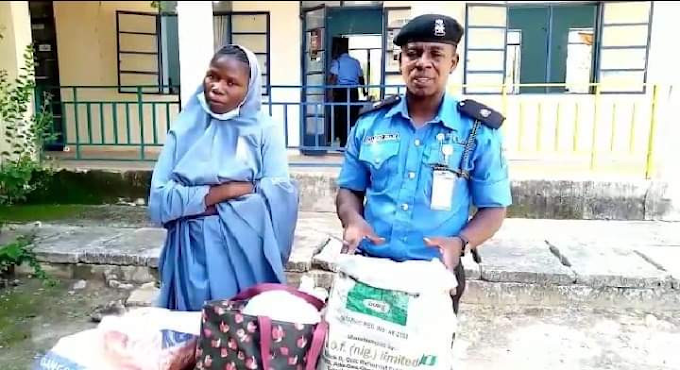 Police Nab Suspected Bandit's Wife With 6 Gallons Of Petrol Hidden Under Her Hijab In Katsina
