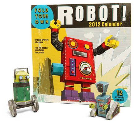Buidl a Robot 2012 Papercraft Calendar