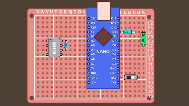 Synth build guide MIDI circuit 5