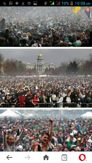 Thousands Of Smokers Celebrates Annual Holiday Of Marijuana In The U.S.(Pics)