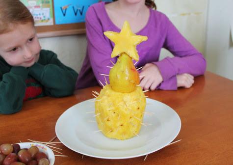 base de arvore de natal de frutas