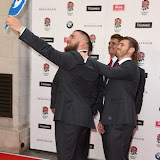OIC - ENTSIMAGES.COM - Jack Nowell, Jamie George, Kieran Brookes, Henry Slade and Luke Cowan-Dickie at the  Carry Them Home - rugby dinner (Suits provide by Eden Park) at the Grosvenor House London 5th August 2015 Photo Mobis Photos/OIC 0203 174 1069
