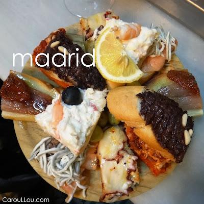 CarouLLou.com Carou LLou in Madrid Spain Klip Voyage Tapas -