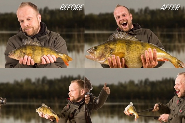 how to make your fish look bigger in pictures