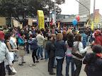 Manifestación de trabajadores en las calles de Bogota con motivo del 1 de Mayo
