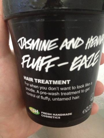 Jasmine and Henna Lush hair treatment