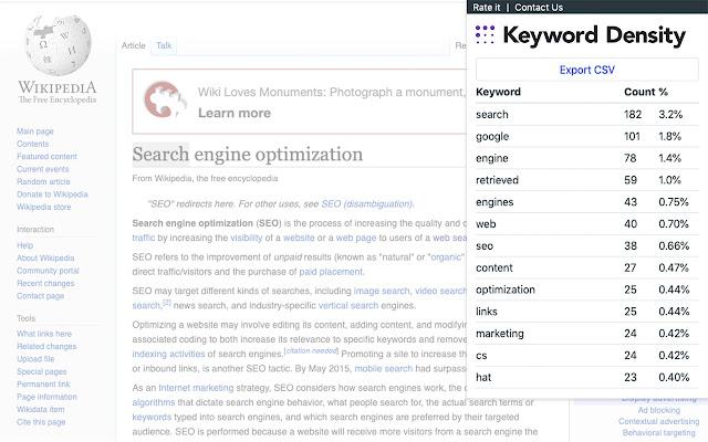 MeasureSEO – Keyword Density