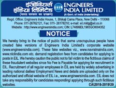 EIL Public Notice 2019 indgovtjobs