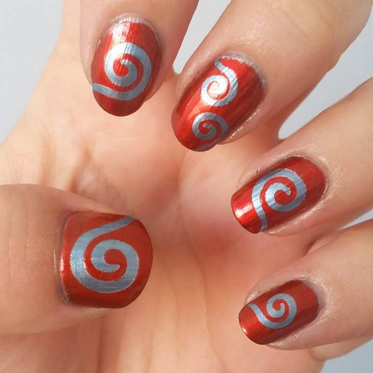 swirl Nail Art Designs ideas 2017 - style you 7