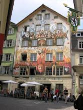 Photo: Starówka w Lucernie - freski na kamienicach