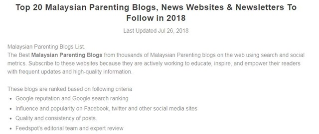TOP 20 MALAYSIAN PARENTING BLOG (2)