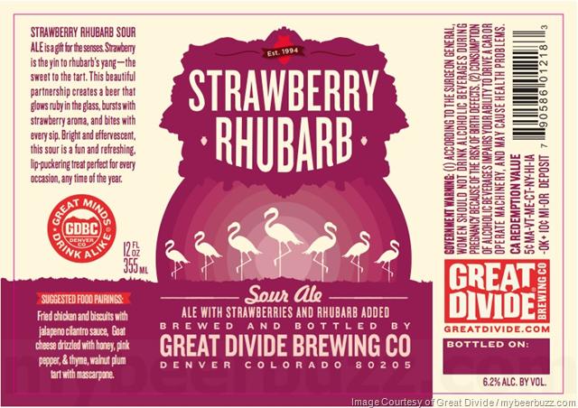 Great Divide - Strawberry Rhubarb Sour Ale Bottles