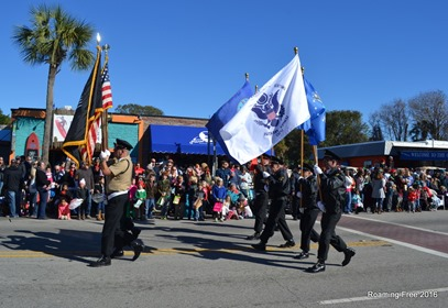 Leading the Christmas Parade