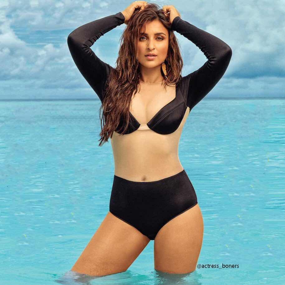 Parineeti chopra latest bikini photos near beach for film fare magazine Navel Queens