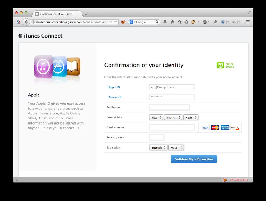 Apple ID 釣魚網頁