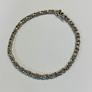 10K White Gold and Clear Stone Tennis Bracelet