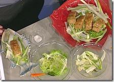 Salmerino fritto al pane nero con insalatina di asparagi