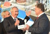 Президент Петр Порошенко на открытии производственнно-перегрузочного комплекса транснациональной корпорации Bunge