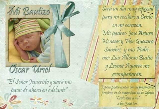 Hermozas tarjetas de invitacion para un bautizo