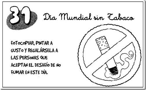 dia mundial sin tabaco para colorear (9)